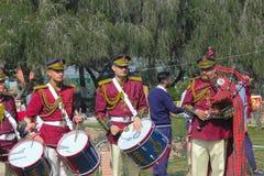 罗斯节日、黄铜和管子结合竞争,昌迪加尔,印度 库存图片