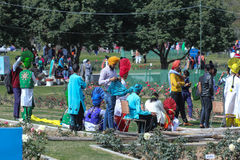 罗斯节日,文化展示,昌迪加尔,印度 库存图片