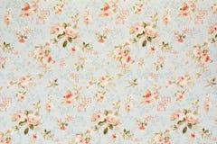 罗斯花卉挂毯墙纸 免版税库存图片