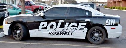 罗斯维尔警察局汽车 免版税库存照片