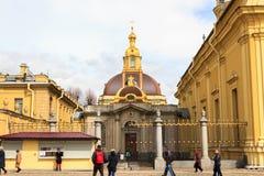罗曼诺夫大公地下埋葬室皇家房子彼得的 库存照片