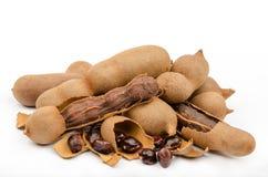 罗望子树是东南亚北非普遍的食物和  免版税库存照片