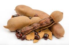 罗望子树是东南亚,北非普遍的食物和  免版税库存照片