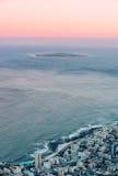 罗本岛日出 库存图片