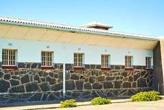 罗本岛监狱旅游参观appartheid 库存照片