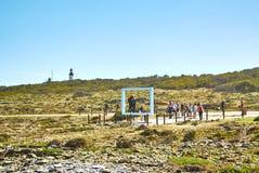 罗本岛监狱旅游参观appartheid 库存图片