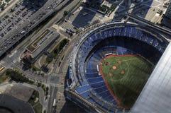 罗杰斯中心的鸟瞰图在多伦多,加拿大 库存照片