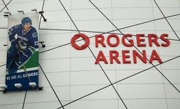 罗杰斯竞技场在温哥华,加拿大 免版税库存照片