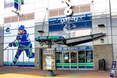 罗杰斯竞技场,温哥华市中心,不列颠哥伦比亚省 免版税库存图片