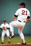 罗杰Clemens波士顿Red Sox 库存图片