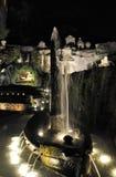 罗梅塔喷泉在晚上 免版税库存图片