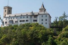 罗森贝里城堡在捷克 免版税库存图片