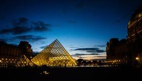 罗浮宫是其中一个世界` s最大的博物馆 库存图片