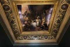 罗浮宫的内部细节,巴黎,法国 库存图片