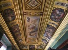 罗浮宫的内部细节,巴黎,法国 图库摄影
