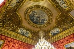 罗浮宫的内部细节,巴黎,法国 免版税库存图片