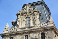 罗浮宫细节  库存图片