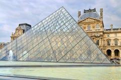 罗浮宫(Musee du Louvre)的外在看法 免版税库存图片