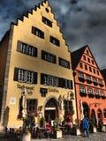 罗滕堡ob der陶伯为在陶伯上的红色堡垒是德语 库存照片