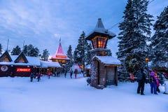 罗瓦涅米- 2017年12月16日:罗瓦涅米圣诞老人村庄, 免版税库存照片
