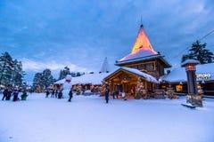 罗瓦涅米- 2017年12月16日:罗瓦涅米圣诞老人村庄, 免版税库存图片