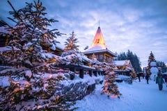 罗瓦涅米- 2017年12月16日:罗瓦涅米圣诞老人村庄, 图库摄影