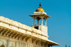 罗申阿格拉堡的Ara亭子 北方邦,印度 库存照片