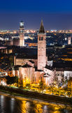 维罗纳地平线,夜。意大利 免版税库存图片