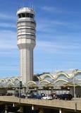 罗纳德・里根机场航空交通管制塔  库存图片