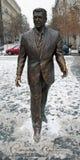 罗纳德・里根雕象在布达佩斯 库存图片