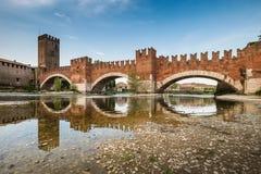 维罗纳意大利-维罗纳,威尼托都市风景  库存照片