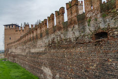 维罗纳老墙壁 库存照片