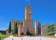 维罗纳自由镇Castello 免版税库存图片