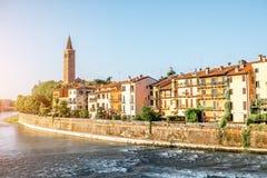 维罗纳都市风景视图 免版税图库摄影