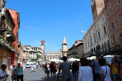 维罗纳,意大利城市视图  图库摄影