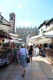 维罗纳,意大利城市视图  库存照片