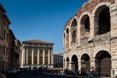 维罗纳,意大利- 2017年4月04日:竞技场,维罗纳, Vene都市风景  免版税图库摄影