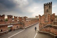 维罗纳,意大利- 2017年4月04日:维罗纳,威尼托都市风景  库存图片