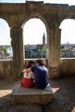维罗纳,意大利- 2017年4月04日:维罗纳,威尼托都市风景  图库摄影