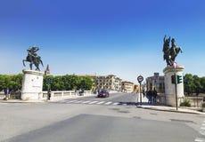 维罗纳,桥梁Ponte della Vittoria -胜利桥梁 免版税库存图片