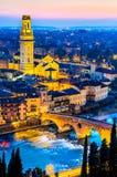 维罗纳, Ponte彼得拉,意大利 免版税库存图片