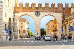 维罗纳 城市门 免版税图库摄影