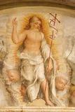 维罗纳-复活的基督壁画在Basilica di圣芝诺 库存照片