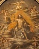 维罗纳-从st. Erasmus的复活的基督atar在圣诞老人阿纳斯塔西娅教会 免版税库存照片