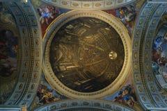 罗耀拉圆顶天花板壁画圣伊格纳罗  库存图片