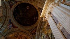罗耀拉,校园Martius圣伊格纳罗教会  免版税库存照片