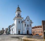 罗萨里奥教会在库里奇巴历史中心-库里奇巴,巴拉那,巴西 库存照片