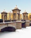 罗蒙诺索夫桥梁,圣彼德堡,俄罗斯 图库摄影