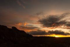 罗赖马山太阳 免版税图库摄影