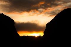 罗赖马山太阳 库存照片